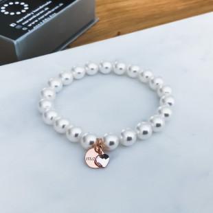 Perlový náramok pre mamu rose