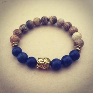 Buddha náramok lapis lazuli