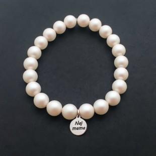 Náramok Naj mama so Swarovski perlami