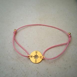 Náramok s kompasom zlatý rose